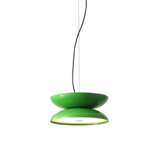 LPL335-GN 20 watt round green LED pendant ceiling light