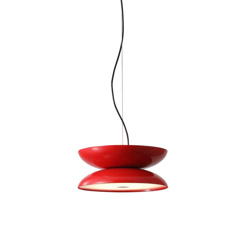 LPL335-RD 20 watt round red LED pendant light fitting