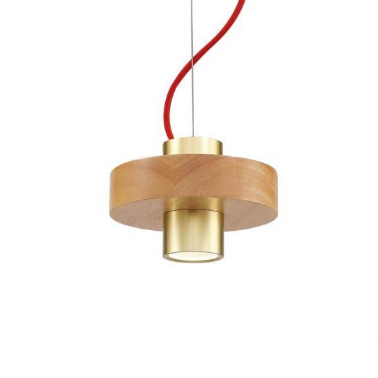 LPL348 5 Watt beechwood LED Pendant light