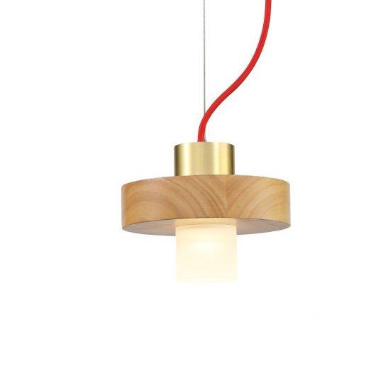 LPL349 5 Watt beech wood LED pendant ceiling light