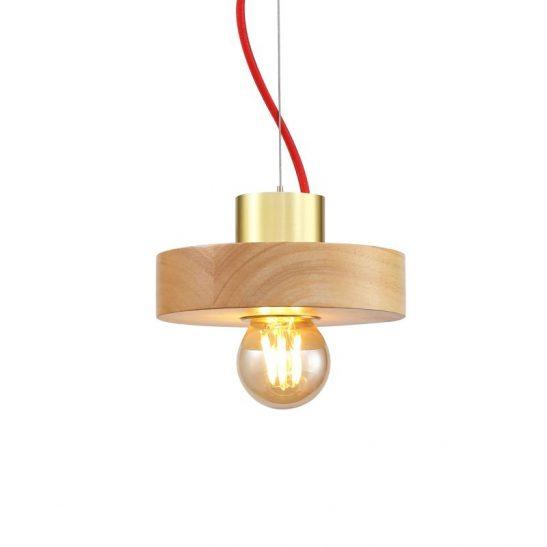 LPL350 4 watt beech wood LED pendant light