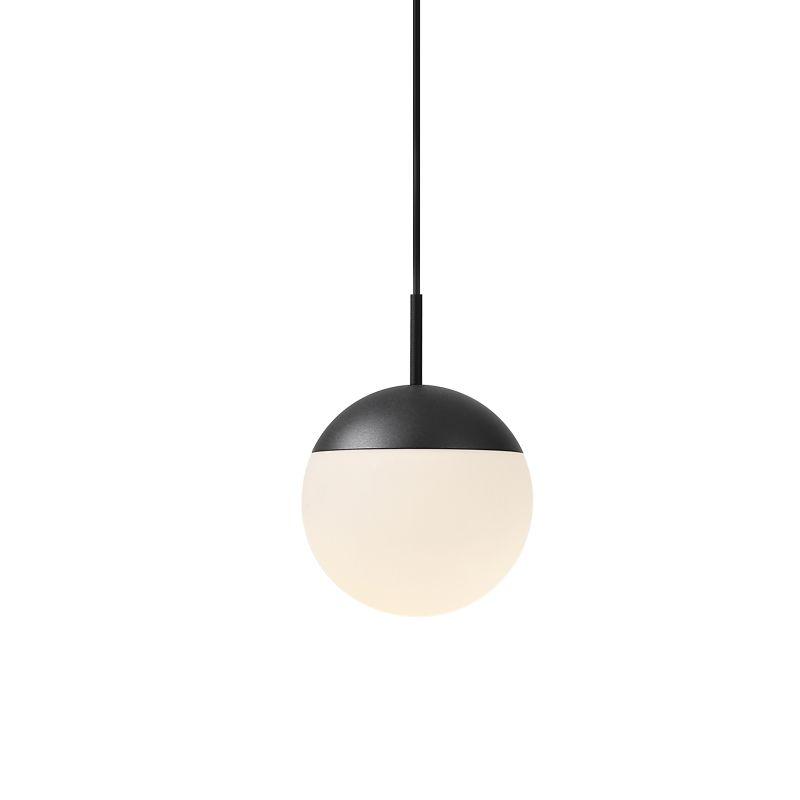LPL354-BK 6 watt black dome shaped LED pendant light