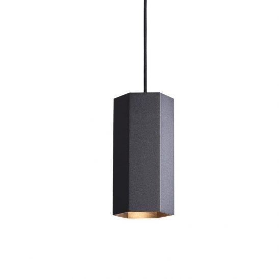 LPL356-BK 5 watt hexagonal black LED pendant light