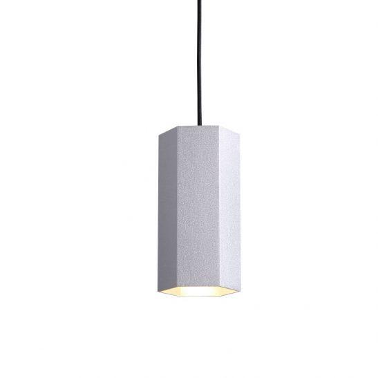 LPL356-SL 5 watt silver hexagonal LED pendant light