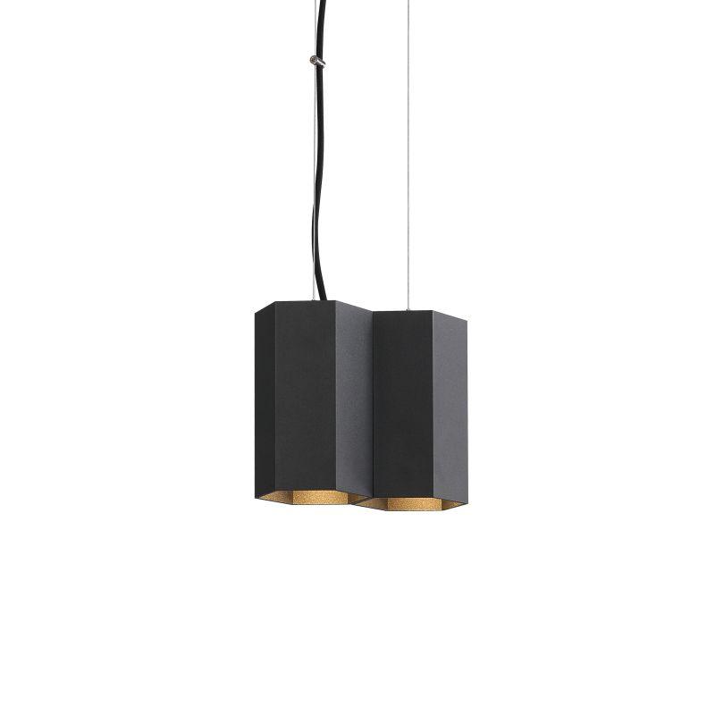 LPL366-BK 10 watt hexagonal LED pendant light