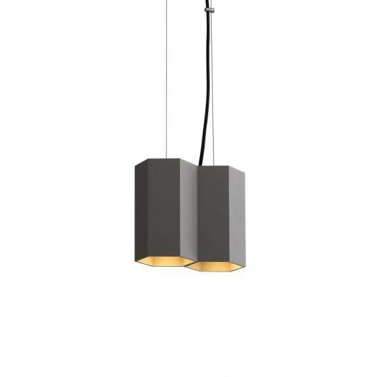 LPL366-GR 10 watt grey hexagonal LED pendant light