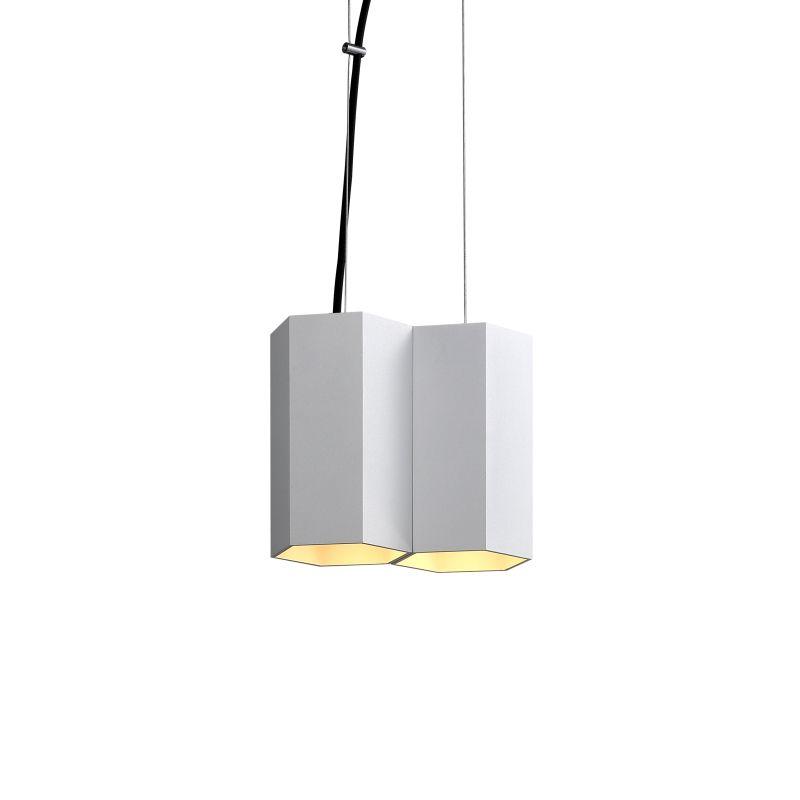 LPL366-WT 10 watt hexagonal white LED pendant light