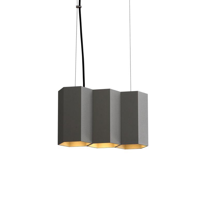 LPL367-GR 15 watt grey hexagonal LED pendant light