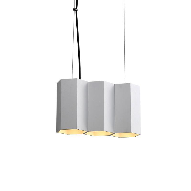 LPL367-WT 15 watt white hexagon shaped LED pendant light