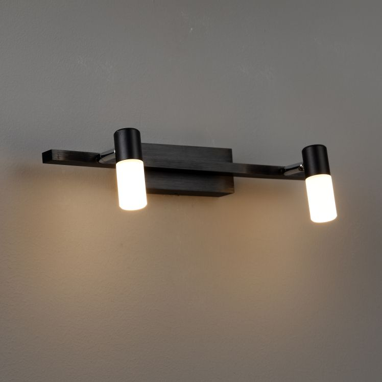 LWA193 6 Watt Black LED Mirror Light