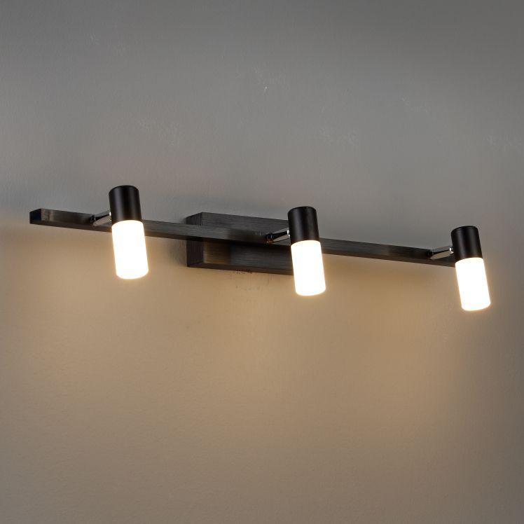 LWA194 9 Watt Black LED Mirror Light