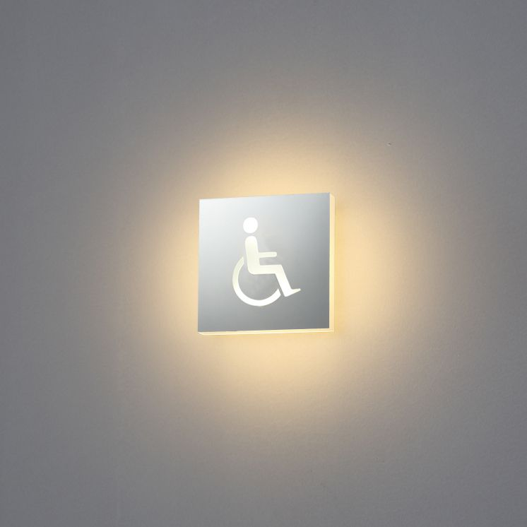 TEM-LWA295C 3 watt disabled icon LED toilet sign