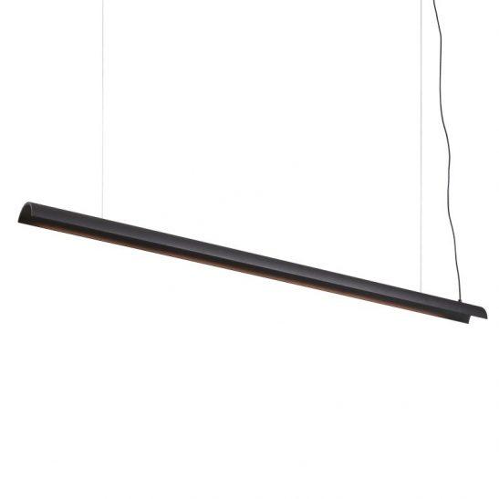 LPL372-BK 17 watt LED black linear pendant ceiling light