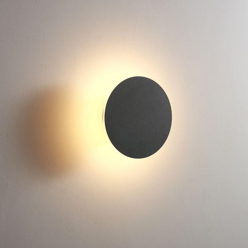 LWA431-BK 6 watt round black bathroom wall light