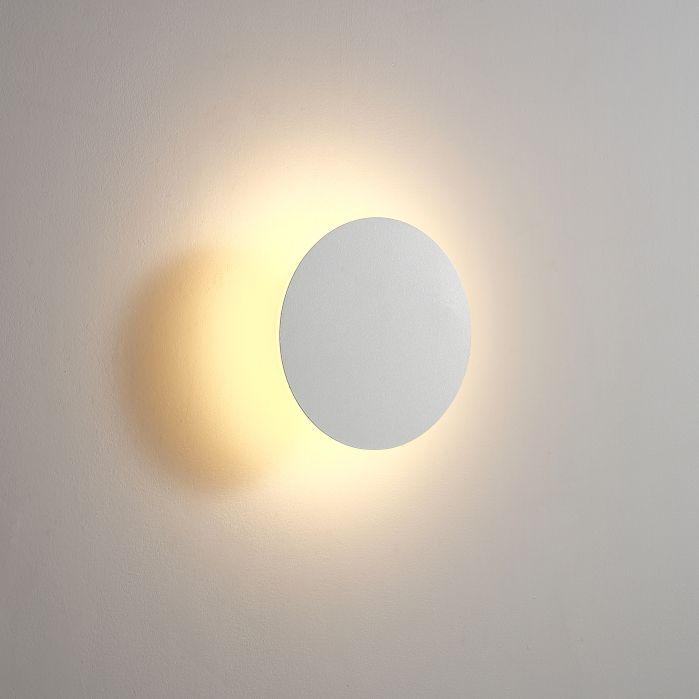 LWA431-WT 6 watt round white bathroom wall light