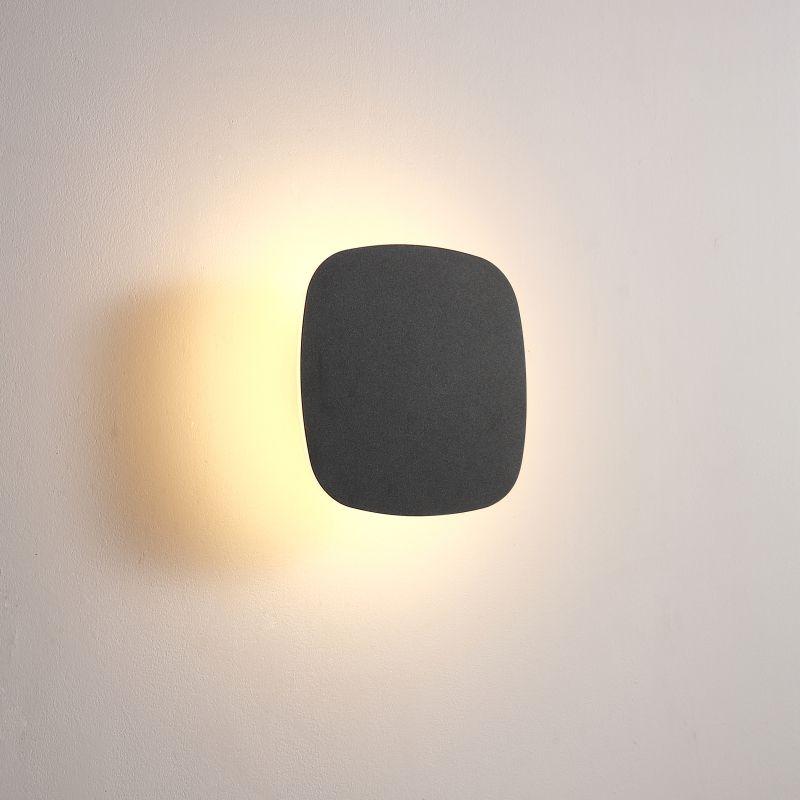 LWA432-BK 6 watt square black bathroom wall light