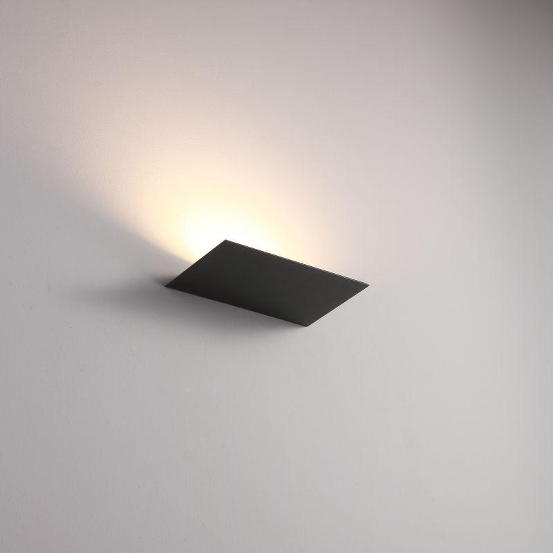 LWA438-BK 12 watt black interior LED wall washer light